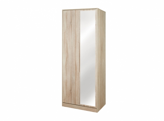 Monaco Tall 2ft6in Mirror Wardrobe