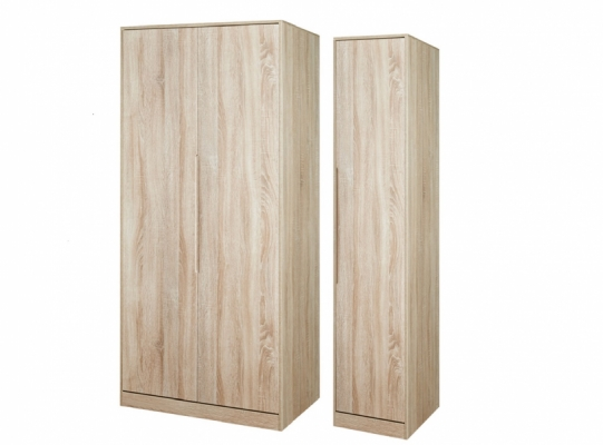 Monaco Tall Triple Plain Wardrobe