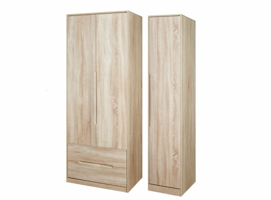 Monaco Tall Triple 2 Drawer Wardrobe