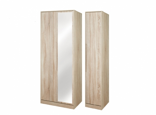 Monaco Tall Triple Mirror Wardrobe
