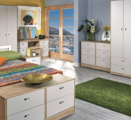 Dubai Tall Triple 2 Drawer Wardrobe