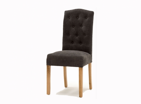 Everest Oak Leg Dining Chair (Grey)