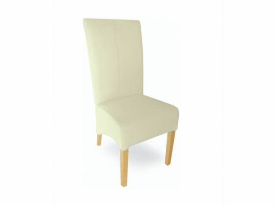 Oxford leather dining chair cream
