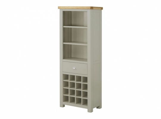 Suffolk Stone Bookcase With Wine Holder