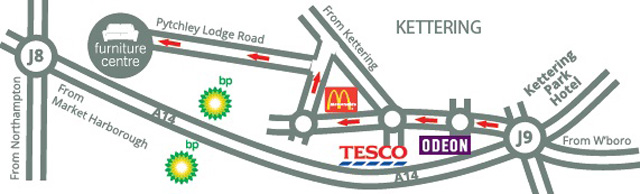 Map to The Furniture Centre